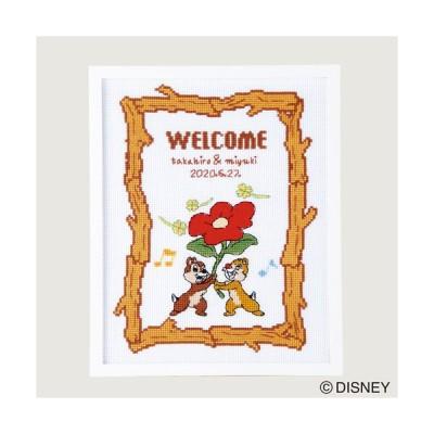 オリムパス ディズニー刺しゅうキット ウェルカムボード チップ&デール 【刺繍キット】