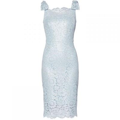 ジーナ バッコーニ Gina Bacconi レディース ワンピース ワンピース・ドレス Hazel Lace Bow Dress Blue