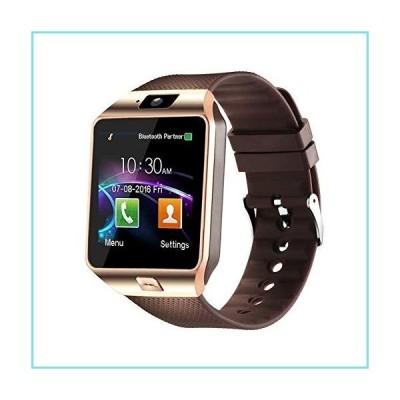 Padgene Bluetoothスマートウォッチ タッチスクリーンリストスマートフォンウォッチ スポーツフィットネストラッカー SIM SDカードス並行輸入品