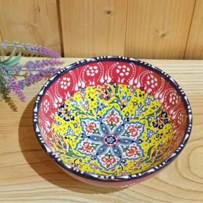トルコ雑貨 トルコ陶器 キュタフア陶器 鉢物 チューリップ ハンドメイド プレゼントNO23
