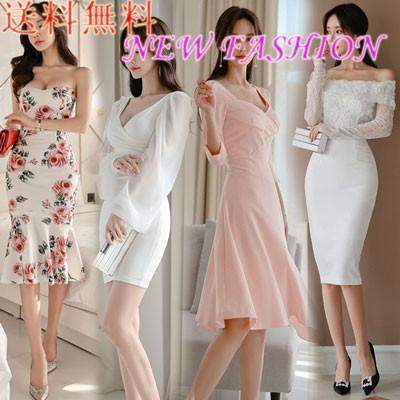 [NEW❤更新】韓国ファッションワンピース レディース レース ワンピースOL、正式な場合、礼装ドレス セクシーなワンピース、ハイウエスト