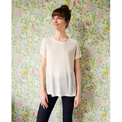 Comptoir des Cotonniers/コントワー・デ・コトニエ リヨセルシルク異素材Tシャツ OFF WHITE 38