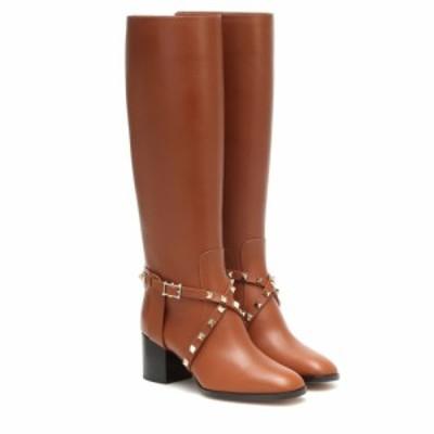 ヴァレンティノ Valentino レディース ブーツ シューズ・靴 garavani rockstud riding leather knee high boots Selleria