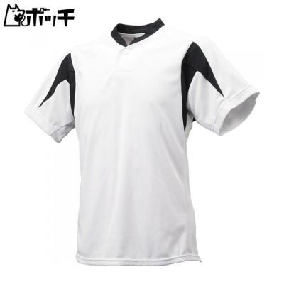 エスエスケイ 1ボタンベースボールTシャツ BT2300 1090ホワイト×ブラック SSK ユニセックス 野球 シューズ ウェア ユニフォーム グローブ バット 野球用品