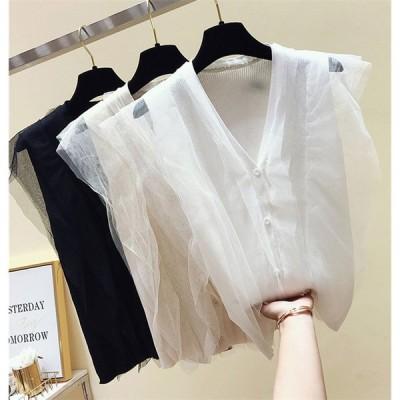 春更新 高品質 韓国ファッション 夏 新着 韓国 ノースリーブ ベスト カレッジウィンド トップス