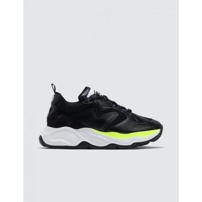 エムエスジーエム MSGM メンズ スニーカー チャンキーヒール シューズ・靴 Chunky Sneakers Black/Neon Yellow