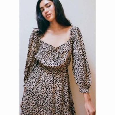ビラボン Billabong レディース ワンピース ミニ丈 ワンピース・ドレス Riviera Animal Print Mini Dress Neutral Multi