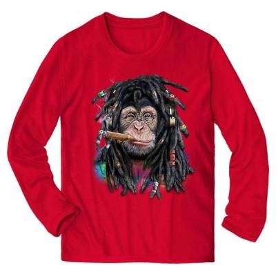 【ヒップホップ レゲエチンパンジー】メンズ 長袖 Tシャツ by Fox Republic
