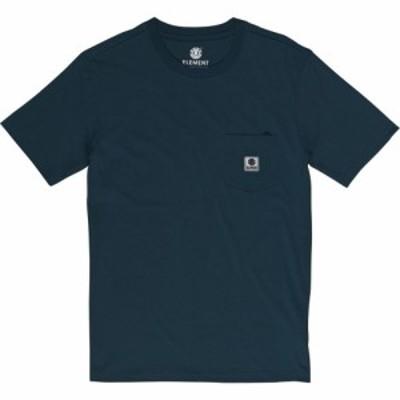エレメント Element メンズ Tシャツ ポケット トップス basic pocket label short sleeve t-shirt Eclipse Navy