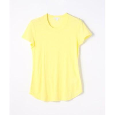 TOMORROWLAND/トゥモローランド スラブジャージー クルーネックTシャツ WUA3037 22 イエロー系 0(S)