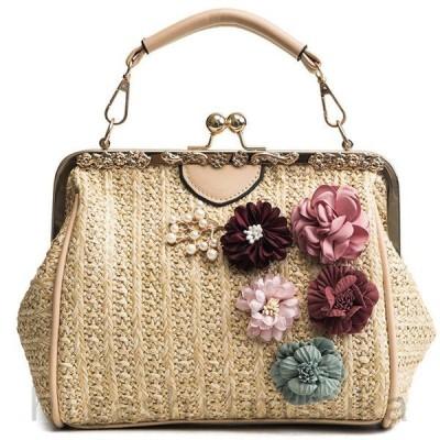 かごバッグ カゴバッグ レディース トートバッグ 夏 大容量 バッグ ハンドバッグ 2way ショルダーバッグ 花柄 手提げ 肩掛け 鞄 かばん カバン フォーマル