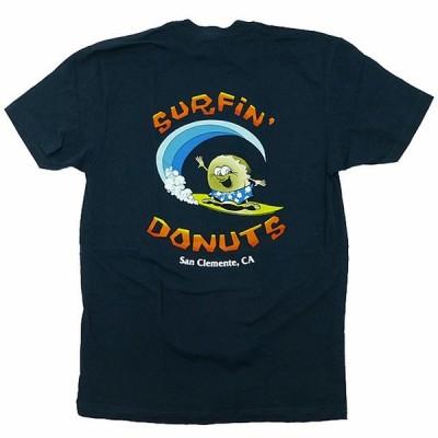 Surfin' Donuts Original Shop Tee サーフィン・ドーナツ オリジナルTシャツ 半袖 カリフォルニア限定 海外限定 紺【ゆうパケット対応】