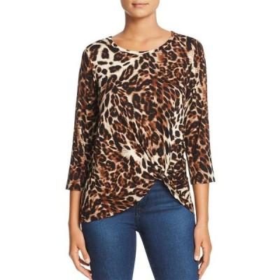 ユニセックス 衣類 トップス A+A Collection | Leopard-Print Twist-Front Top | Multi ブラウス&シャツ