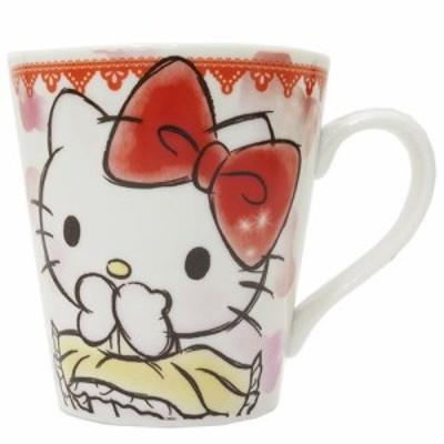 ◆ハローキティ ファジー柄マグカップ(リボン)サンリオアニメキャラ(166)