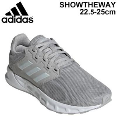 ランニングシューズ レディース アディダス adidas SHOWTHEWAY W/ジョギング スポーツシューズ 女性用 スニーカー グレー系 LDC86 靴 く