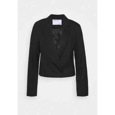 デザイナーズリミックス ジャケット&ブルゾン レディース アウター DALLAS CROPPED - Blazer - black