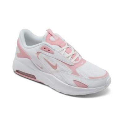 ナイキ レディース スニーカー シューズ Women's Air Max Bolt Casual Sneakers from Finish Line White Pink Glaze