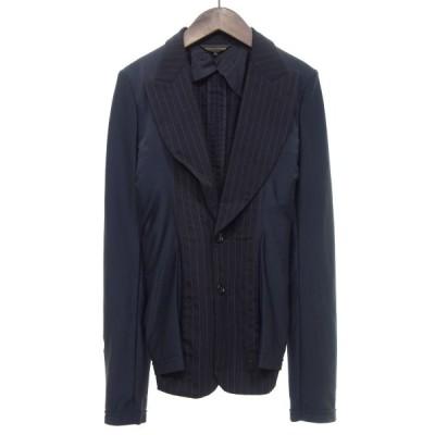COMME des GARCONS ストライプウール2Bテーラードジャケット ブラック サイズ:S (京都店) 200903
