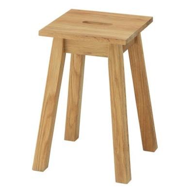 スツール 座面高46cm 角型 天然木 木製 オーク材 椅子 腰掛 ( チェア イス いす チェアー 木製スツール 木製チェア 腰掛け サイドテーブル )
