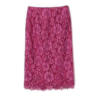 スカート ESTNATION / フラワーレースタイトスカート