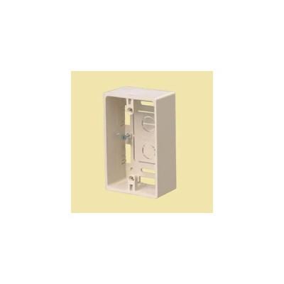 未来工業 プラモール用 深形モール用スイッチボックス(ケーブル配線用露出スイッチボックス) 1ケ用深形 ライトブラウン MSB-1YLB