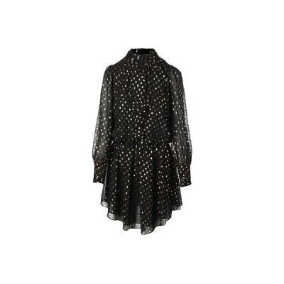 ドレス ワンピース Adrianna Papell Adrianna Papell 0405 レディース ブラック Chiffon Polka Dot Wear to Work ドレス 2 BHFO