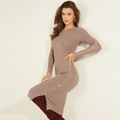 ゲス GUESS Shae Sweater Dress (SLATE MAUVE MULTI)