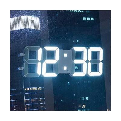 YIBOKANG Modern Simple Digital Wall Clock Plastic 3D Electronic Clock LED Three-Dimensional Chime Temperature Display Smart Remote Control C
