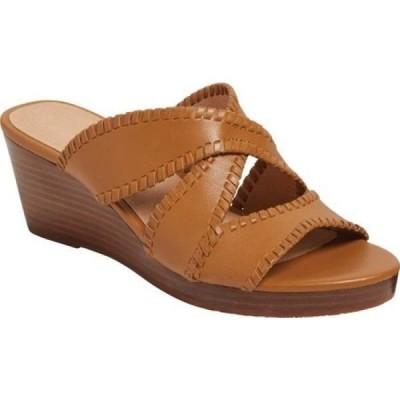 ジャックロジャース Jack Rogers レディース サンダル・ミュール ウェッジソール シューズ・靴 Jackie Mid Wedge Slide Caramel Leather