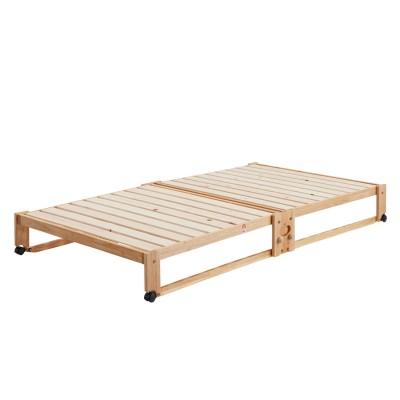 【大型商品送料無料】ひのきの折りたたみすのこベッド<ロータイプ・ハイタイプ>