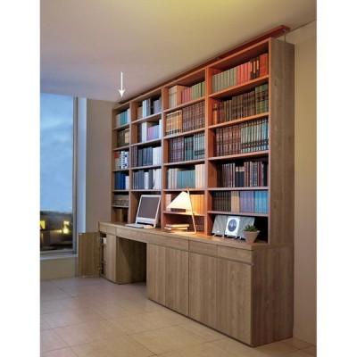 家具 収納 ホームオフィス家具 パソコンデスク ホームライブラリーシリーズ キャビネット 幅60cm 突っ張りタイプ 552827