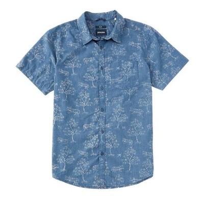 プラーナ メンズ シャツ トップス Prana Slim-Fit Roots Studio Short-Sleeve Organic Materials Woven Shirt