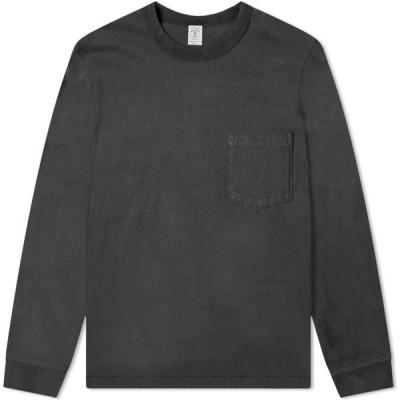 ベルバシーン Velva Sheen メンズ 長袖Tシャツ ポケット トップス Long Sleeve Heavyweight Pocket Tee Black