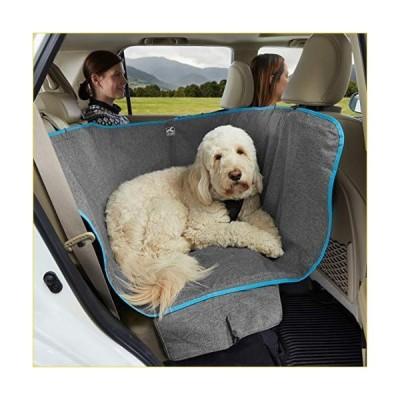 "Kurgo Wander Dog Hammock Style Seat Cover for Pets, Pet Seat Cover, Dog Car Hammock - Water-Resistant, Khaki, 27.5"" Wide, Heather Charcoal G"