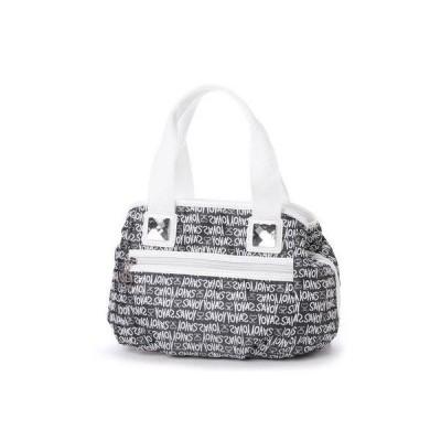 サボイ SAVOY ジャガード織・グラフィティロゴ柄のハンドバッグ (グレー)