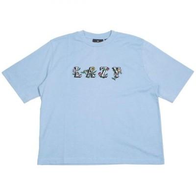 レイジー オーフ Lazy Oaf レディース Tシャツ トップス Lazy Flowers Tee blue