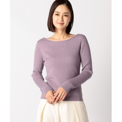 MEW'S REFINED CLOTHES / ウォッシャブルバックリボンリブニット WOMEN トップス > ニット/セーター