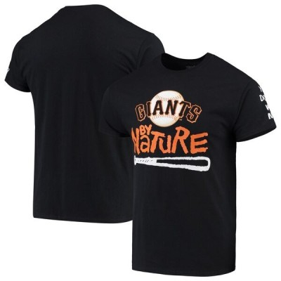 MLB サンフランシスコ・ジャイアンツ Tシャツ ノーティー・バイ・ネーチャー ベースボール ブラック