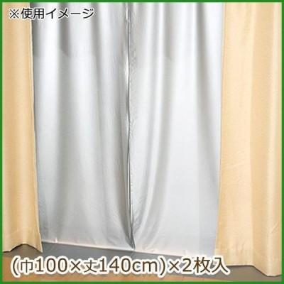 断熱カーテンライナー 遮光タイプ 巾100cm×丈140cm 2枚入 グレー(GY)|b03