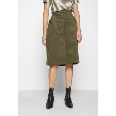 サントロペ スカート レディース ボトムス SKIRT - A-line skirt - army green