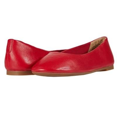 ハッシュパピー Kendal Ballet PF レディース フラットシューズ Fire Red Leather