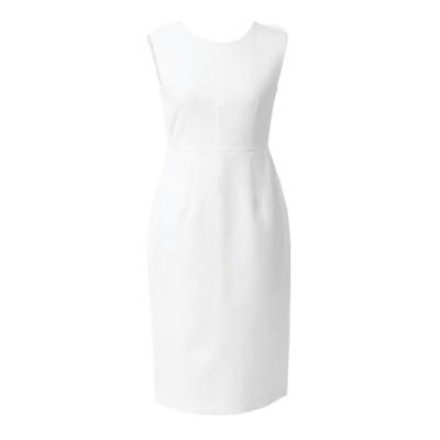 【アンビエント】 ストレッチスリムシフトドレス レディース ホワイト M AMBIENT