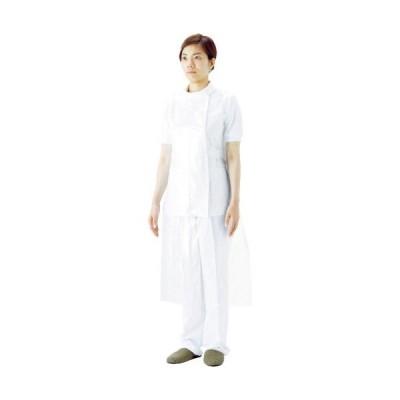 サラヤ プラスチックエプロン袖なしホワイト (50枚入) ( 51077 ) サラヤ(株)