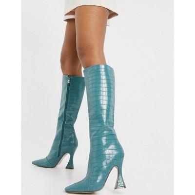 レイド Raid レディース ブーツ シューズ・靴 Angelique Knee High Boots In Turquoise Croc