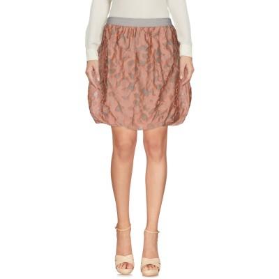 ジジル JIJIL ひざ丈スカート サーモンピンク L 麻 50% / コットン 34% / ナイロン 16% ひざ丈スカート