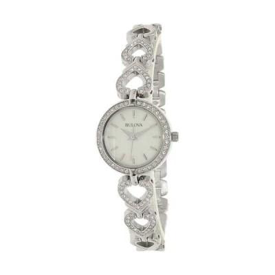 腕時計 ブローバ Bulova レディース クリスタル 96X136 シルバー ステンレス-スチール クォーツ 腕時計