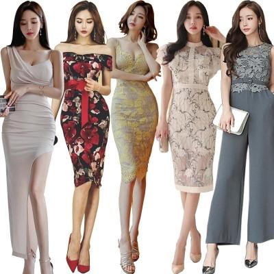 新作【送料無料】高品質 韓国ファッション パーティードレス ボディコン ニット ワンピ ミニドレスセクシー 高級でセクシーなワンピース 新入荷 結婚式 花柄 ミニ リボン レース 二次会ドレス