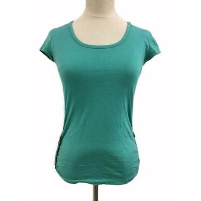 【中古】プロポーション ボディドレッシング Tシャツ プルオーバー Uネック ロールアップ 半袖 2 緑 グリーン レディース 【ベクトル 古着】