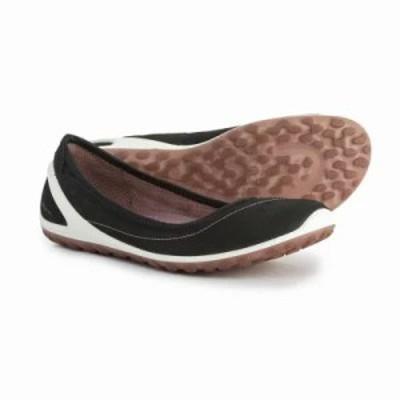エコー スリッポン・フラット BIOM Lite Athletic Ballet Flats - Leather Black/Woodrose