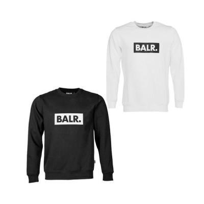 BALR. ボーラー balr.  メンズ スウェット トレーナー ブラック  Club Crew Neck Sweater